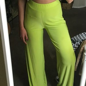 Neon green pants/tank set
